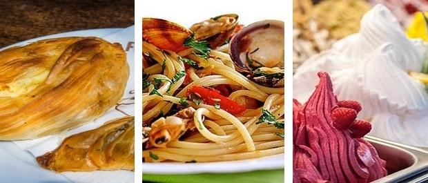 un pastizzi à 0,50€-Un plat de spaghetti en restaurant à 9,50€-Une glace à l'italienne à Spinola Bay à 2€