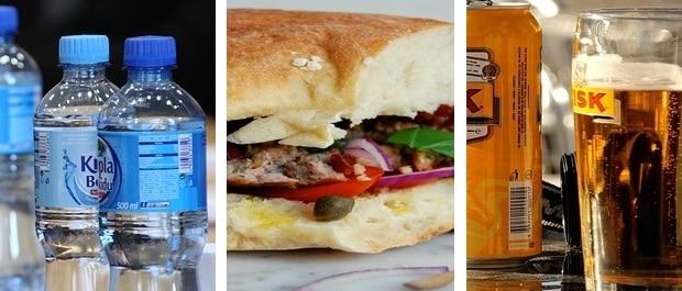 cout de la vie malte une bouteille d'eau de 0,50cl à 0,70€-un copieux sandwich au thon à 3,00€-une bière locale à 2,00€