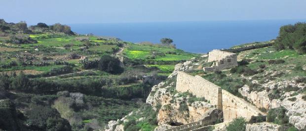 dwejra lines randonnée à Malte