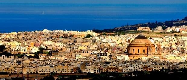 visiter mdina ancienne capitale de Malte vue sur mosta